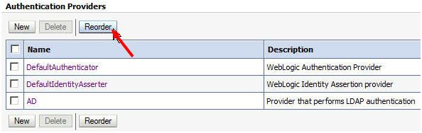 Authentication Providers Weblogic