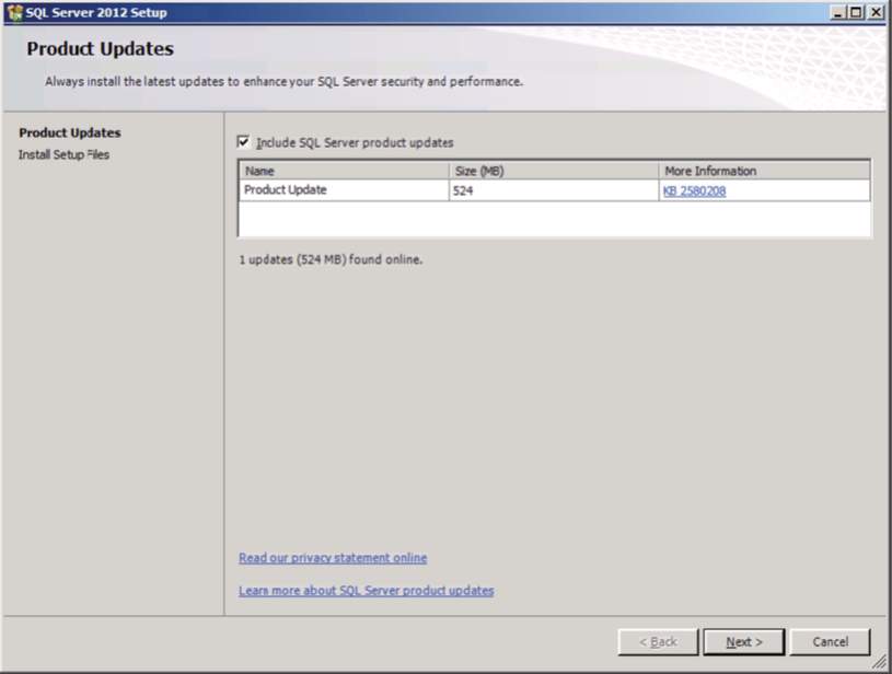 SQL Server Product Updates
