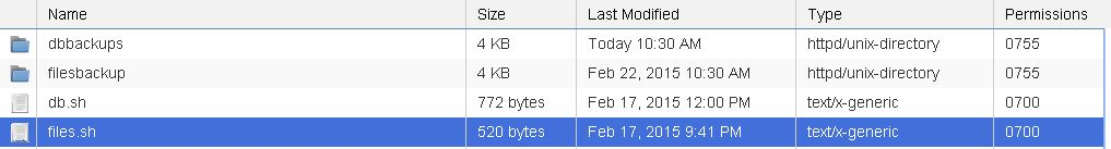 wordpress files backup script