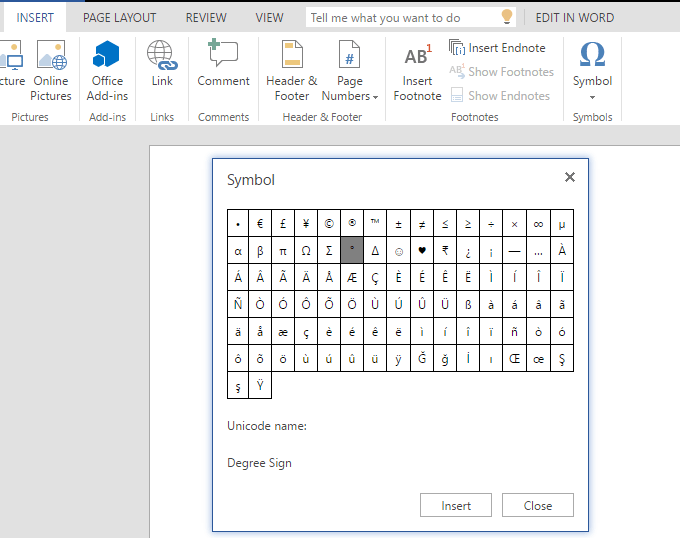 How To Type Degree Sign On Computer Or Ms Word