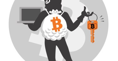 Threat to digital currency. Criminal succeeds hacking theft. File contains Clipping mask, Transparency.