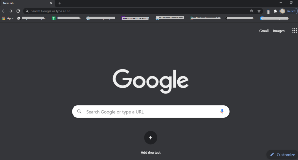 Google Chrome Dark Mode
