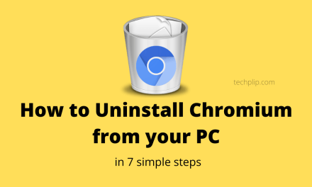 How To Uninstall Chromium from Windows 10 PC