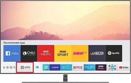 Select Apps to get Xfinity App on Samsung TV
