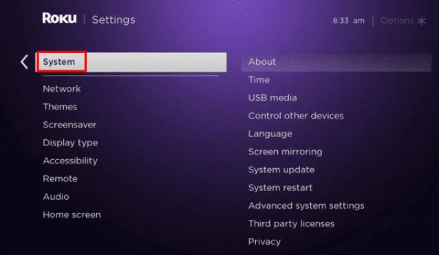 System setting