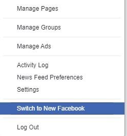 New Facebook version