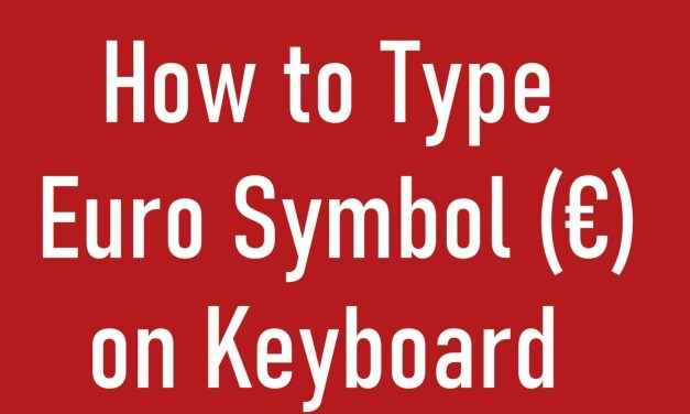 How to Insert (€) Euro Symbol on Keyboard