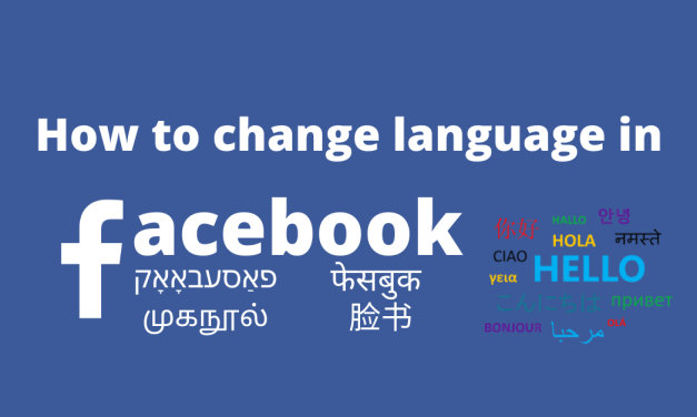 How to Change Language on Facebook on PC and Smartphone