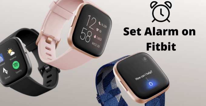 How to set alarm in fitbit