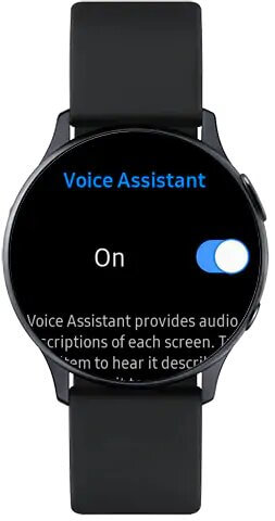 Turn off Voice Assistant on Samsung Galaxy Watch