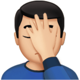 What does SMH mean? - facepalm emoji