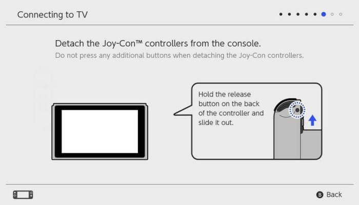 Detach Joy-Con - Set Up Nintendo Switch