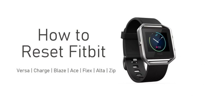 How to Reset Fitbit