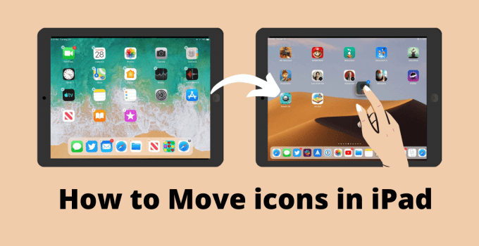How to move icons in ipad