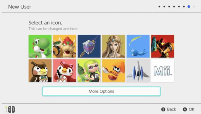 Select icon - Set Up Nintendo Switch