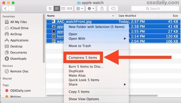Zip Files on Mac