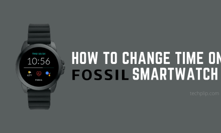 How to Change Time on Fossil Smartwatch