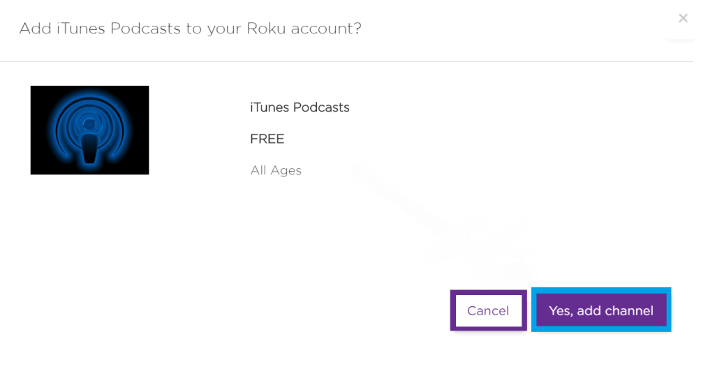 Add Channel to Roku