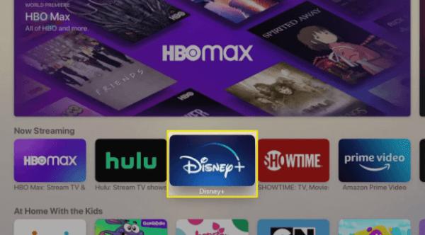 Choose Disney Plus - Disney Plus on Apple TV