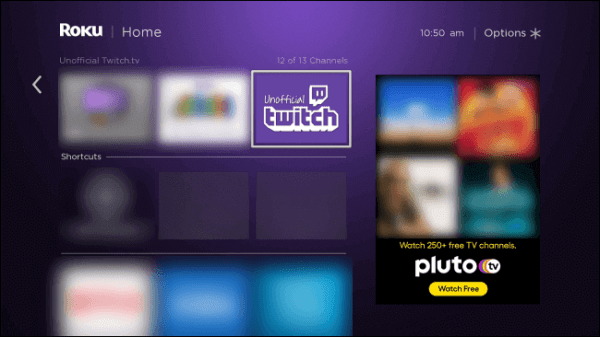 Click on Twitch Tile