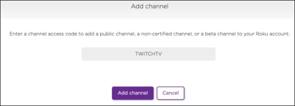 Enter Channel Code