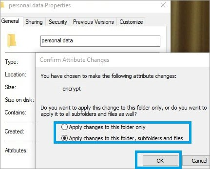 Apply Changes to folder