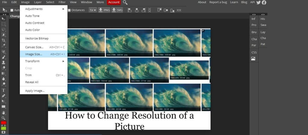 Change the Resolution of a Picture