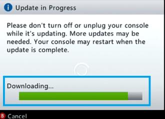 Update Xbox in Progress