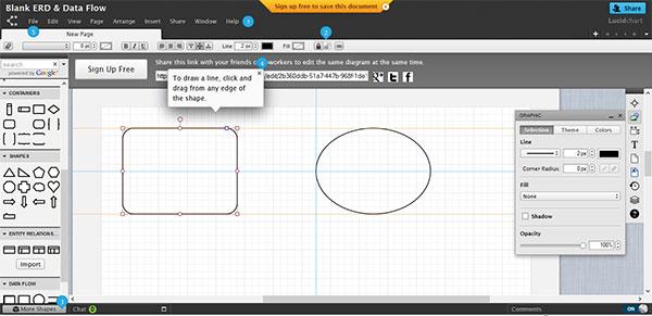 LucidChart free uml diagram tool online