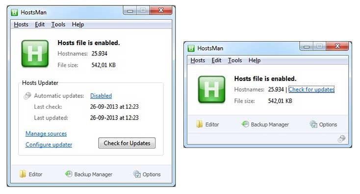 Windows Hosts File Editor and Switcher Software HostsMan