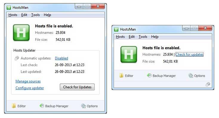 Windows Hosts File Editor and Switcher Software HostsMan