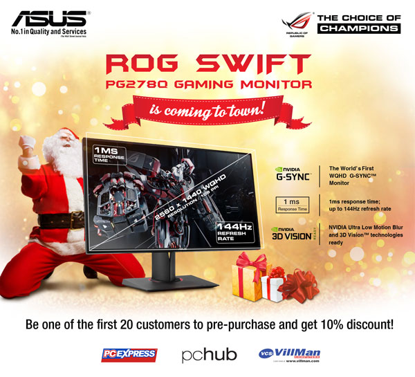 ASUS Announces ROG Swift Pre-Order Promo