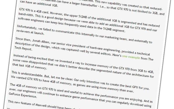 Nvidia Admits Fault; Also Faces Lawsuit Over GTX 970 Fiasco