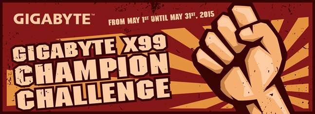 GIGABYTE Hosts X99 CHAMPION CHALLENGE on HWBOT.org