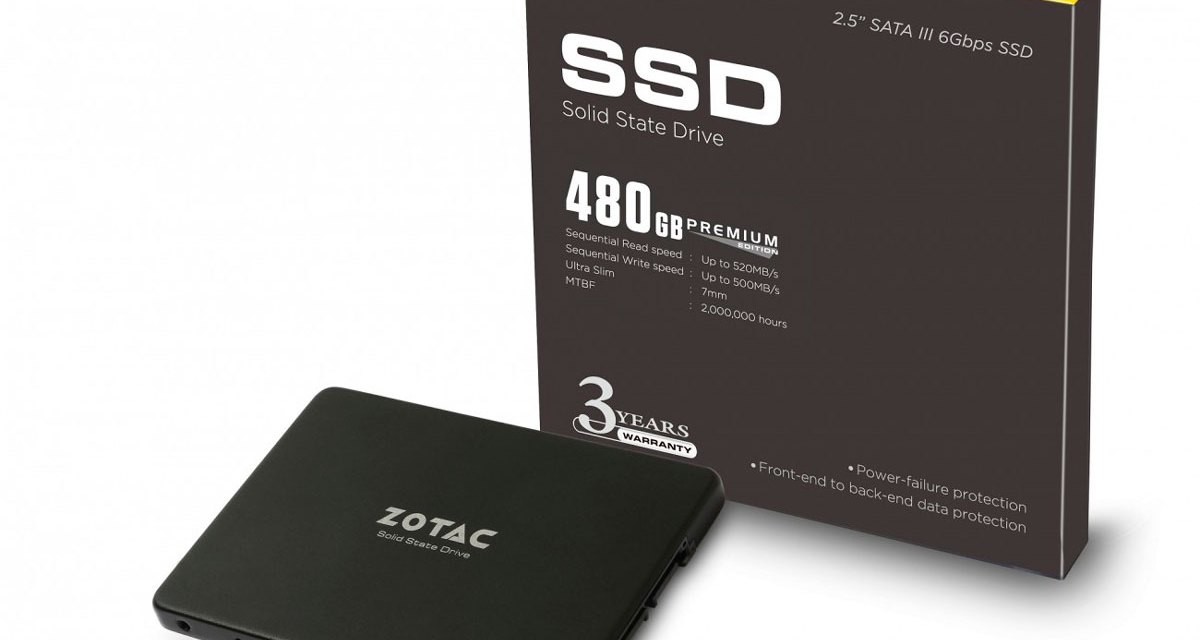 ZOTAC Enters the Storage Market With Premium Edition SSDs