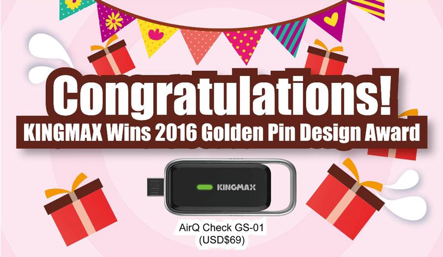 KINGMAX Wins 2016 Golden Pin Design Award!