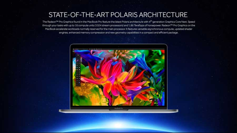 Latest Apple MacBook Pro Has AMD Radeon Pro 400 Graphics Inside