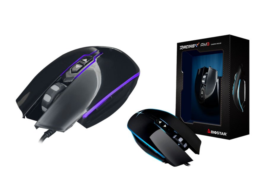 BIOSTAR Announces The RACING AM3 Gaming Mouse