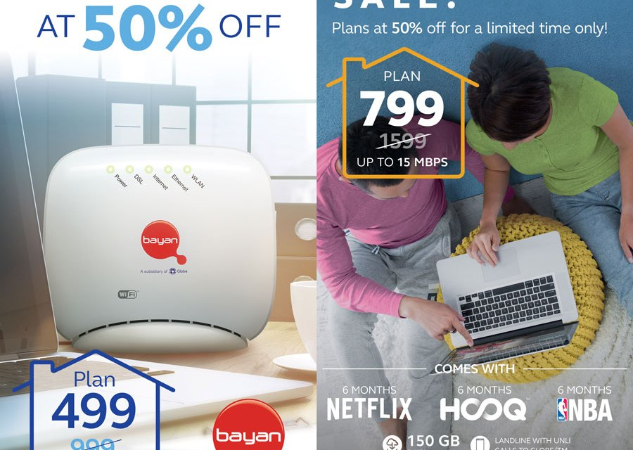 Globe & Bayan Broadband Deals Now 50% OFF This Christmas