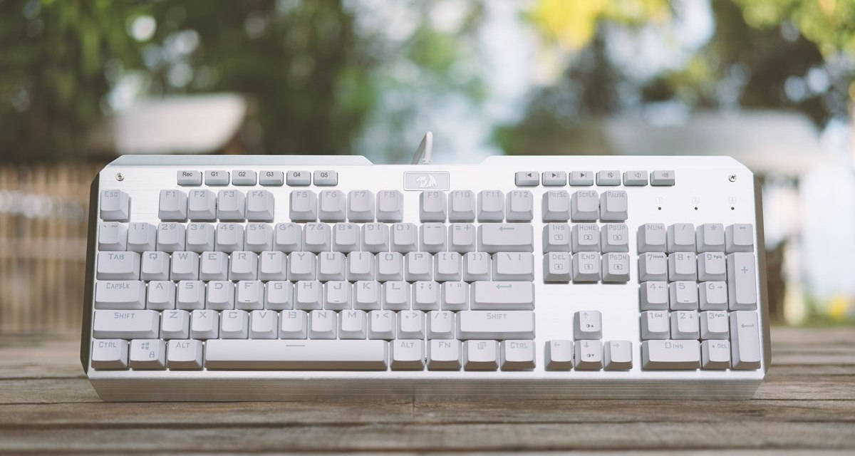 REDRAGON Indrah White RGB Mechanical Keyboard Review | TechPorn