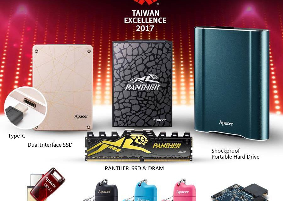 Apacer Wins 8th Streak of Taiwan Excellence Awards