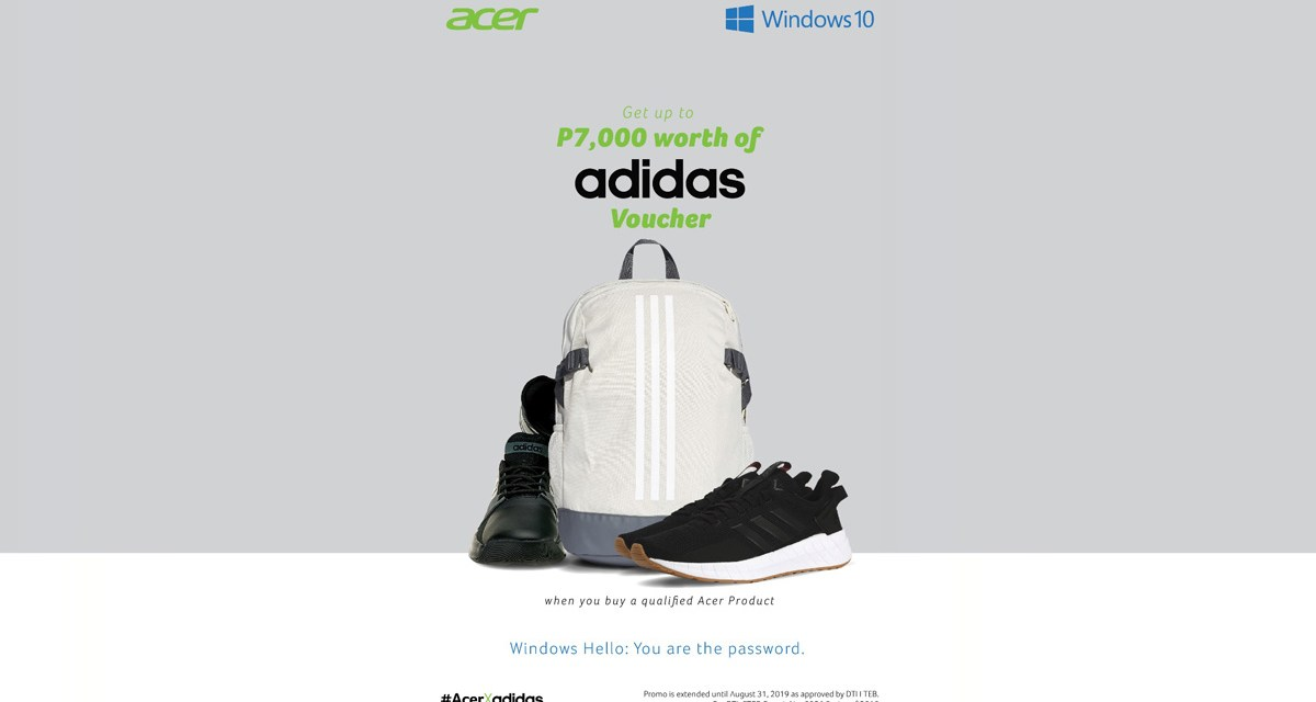 Acer PH Extends Back to School 2019 Promo with Adidas