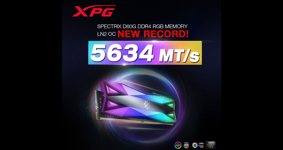 ADATA XPG SPECTRIX D60G Breaks Overclocking Record