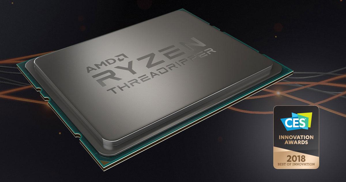 AMD Ryzen Threadripper 1950X Wins CES 2018 Best of Innovation Award