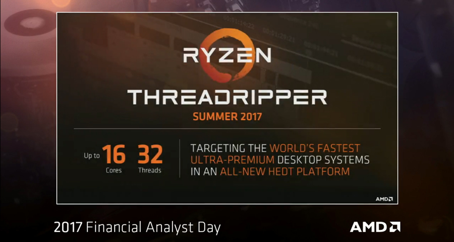AMD Confirms 16-Core Threadripper CPU and Server Class Epyc CPU