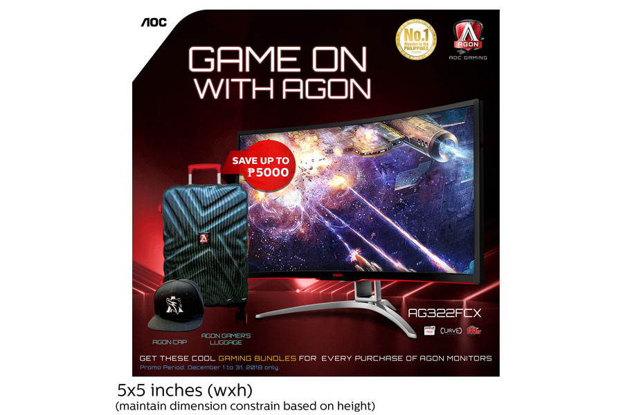 AOC Ends 2018 with AGON Monitor Deals