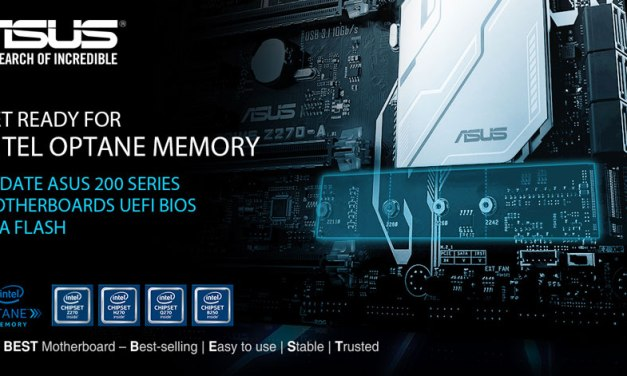 ASUS Announces Support for Intel Optane Technology