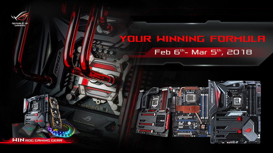 ASUS ROG Announces Your Winning Formula Campaign