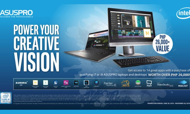 ASUSPRO and Intel Launches Ultimate Creativity Pack Promo