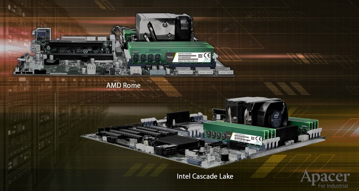 Apacer Announces DDR4-3200 Industrial Grade Memory Kits